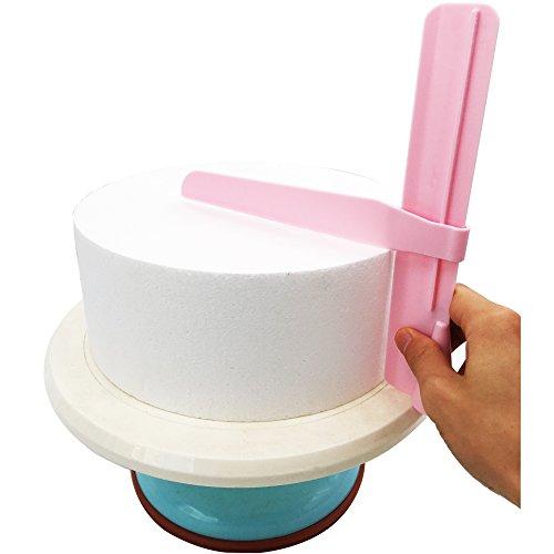 Ainxin, Teigspachtel, Kuchenschaber, zum Glattstreichen von Teig, für Torten-Dekorationen, 5er-Set Adjustable Cake Edge Smoother