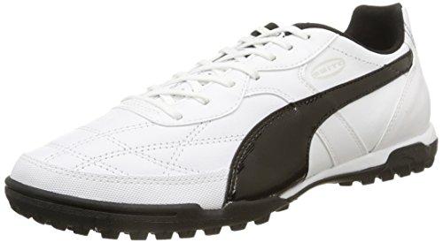 Puma Esito Classico Tt Scarpe Calcetto, Uomo Bianco (White/Black)