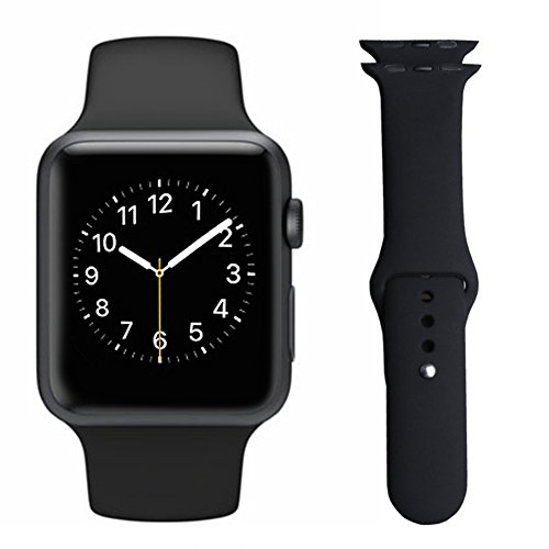 AWStech-Apple-Watch-Strap-42mm-Apple-Watch-2-Band-Silicone-Replacement-Band-Sport-Edition-Watchband-Black