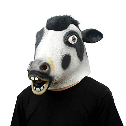 Rwdacfs Masken für Erwachsene,Kuh Maske Maskerade Karnevalsparty tierischen Comedy-Show ()