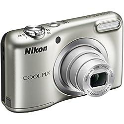 """Nikon COOLPIX A10 SILVER 16,1MP 1/2,3"""" CCD 4608 x 3456Pixeles Argent-Appareil photo numérique-(batterie compact 1/2,3"""" 4 6-23 mm Auto 80 1600 Auto)"""