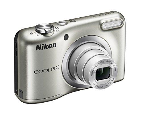 "Nikon Coolpix A10 Fotocamera Digitale Compatta, 16 Megapixel, Zoom 5X, LCD 2,8"", HD, Argento [Nital card: 4 anni di garanzia]"