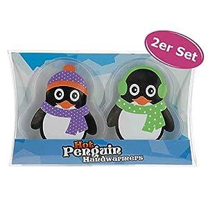 itsisa Taschenwärmer Pinguin, 2er Set – Wichtelgeschenk, Handwärmer, Taschenheizkissen