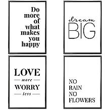 verschiedene poster set s love more 4 x din a4 auch mit bilderrahmen