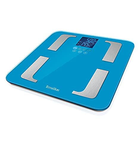 Terraillon Electronic Bathroom Scales, Body fat analyser, 8 user memories,