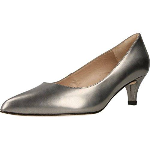 Zapatos TAC�n, Color Plateado Piombo, Marca ARGENTA