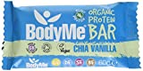 BodyMe Organic Vegan Protein Bar | Raw Chia Vanilla | Box of 12 x 60g | With 3 Plant Proteins from BodyMe