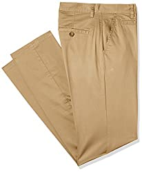 Peter England Mens Casual Trousers (8907155731204_NTD214SS_92_Beige)