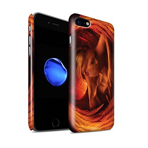 Offiziell Elena Dudina Hülle / Glanz Snap-On Case für Apple iPhone 8 / Gefallen Muster / Fantasie Engel Kollektion Gefallen
