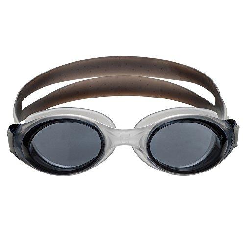 Barracuda Swim Goggle Submerge - Slanted Lenses One-Piece Frame, Anti-Fog UV Protection, Shatter-Resistance, Easy Adjusting Lightweight Comfortable for Adults Men Women IE-13355 (SMK/SMK) -