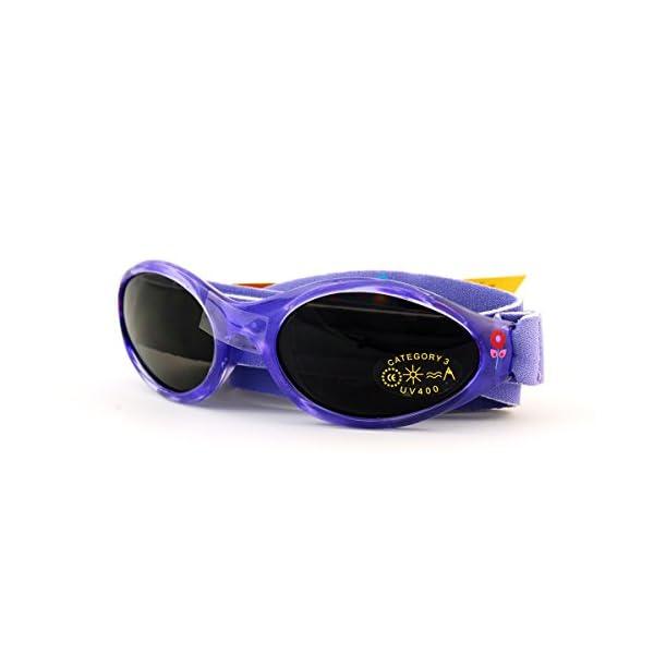 Baby Banz - Gafas de sol Ovaladas para niños, color Rosa (Lavender Tulip), talla 0-2 anos 2