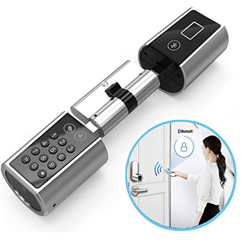Intelligente Schlösser Home Security Digitale Tastatur Hardware Lock Keyless Euro Lock Core Zylinder Bluetooth Elektronische Türschloss - Home-security-hardware