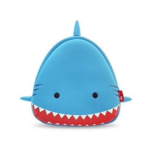 GreenForest bambini regalo bambino Zaini bambini zaino - squalo Smile blu con bocca rossa (10.4 * 10 * 4.1 pollici)-regalo di Natale per ragazze di 3-8 anni