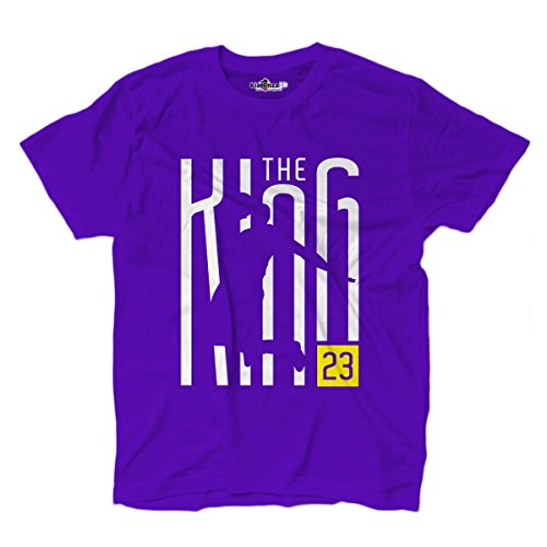 Camiseta T-shirt King 23 Writers Los Angeles XL Viola