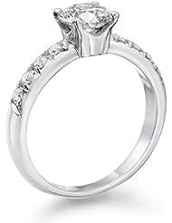 Solitaer Diamantring - Round mit Zertifikat 0.91 Karat, 18 Karat (750) Weißgold