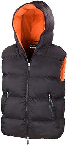 Result chaud avec capuche–Dax Down Feel–Gilet – Noir/orange