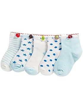 Baby Kinder Socken 5 in 1 Set Jugendliche Stricksocke Verdickender Herbst und Winter Jungen Mädchen Baumwolle...