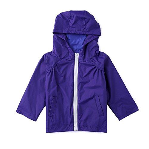 Yeshi Kids Waterproof Lightweight Rain Jacket Outwear Hooded Raincoat Hoodies Rainwear
