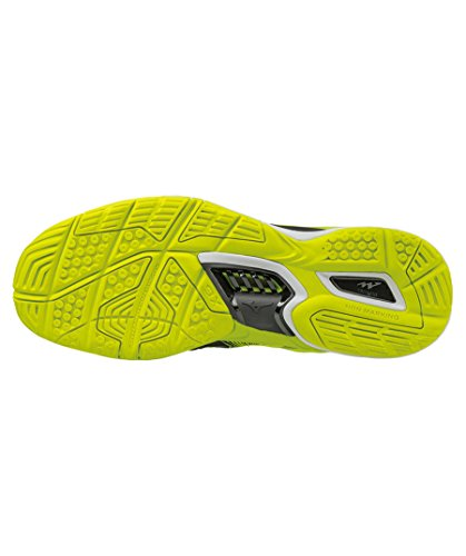 De Chaussures Stealth 4 Mizuno Seguridad Amarillo Blanco Negro Onda nxxwAZ6f7
