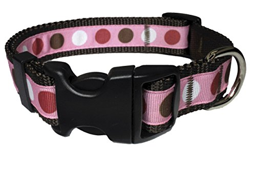 Unbekannt Paw Pfoten USA Valentine Pinky Tuscadero Dot Hund Halsband