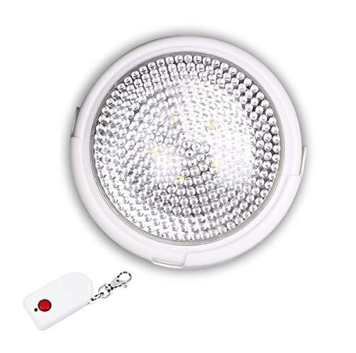 Plafón led con mando a distancia, 12x5cm, bombilla led con mando, lámpara de pared, aplique, luz blanca, cualquier espacio