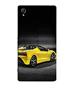 PrintVisa Open Roof Car 3D Hard Polycarbonate Designer Back Case Cover for Sony Xperia C6 Ultra Dual