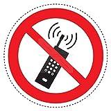 Sticker-Designs 4cm! 6Stück!Aufkleber-Folie Modellbau Miniatur Handy Telefonieren verboten No Mobile Phone S132 Jahre haltbar Maßstaab Vinyl-Sticker Profi Qualität