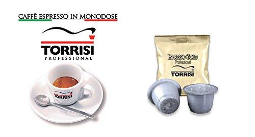 TORRISI Kaffee - professionelle Kapsel kompatibel Nespresso ESPRESSO GOLD 200 Stück einzeln verpackt KOSTENLOS (Tasse + Untertasse)
