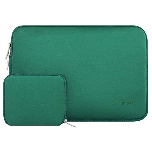 MOSISO Sleeve Hülle Tasche Kompatibel 15-15,6 Zoll MacBook Pro, Notebook Computer Wasserabweisend Neopren Laptophülle Laptoptasche Notebooktasche mit Kleinen Fall, Pfau Grün (15-zoll-laptop-neopren-hülle)