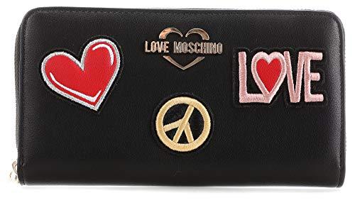 Love Moschino Portafogli Black RitsPortafogli JC56...