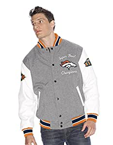 "Denver Broncos NFL ""Kneel Down"" Super Bowl Commemorative Varsity Jacket Veste"