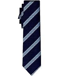 BOSS Seidenkrawatte BOSS wide stripe navy steel