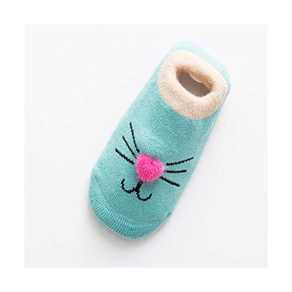 ZOOMY Baby Girls Boys Calcetines Antideslizantes para niños pequeños con agarres Calcetín de Piso de Dibujos Animados… 5