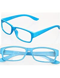 NERD® Brille Extra Schmal ,, Baby Blau,,