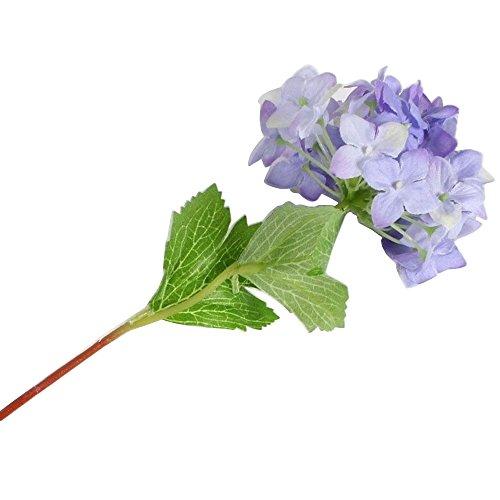 ZHOUBA 1PC Künstliche Hortensie Party Hochzeit Brautschmuck Home Fake Blumen Decor, Plastik, Violett, Einheitsgröße