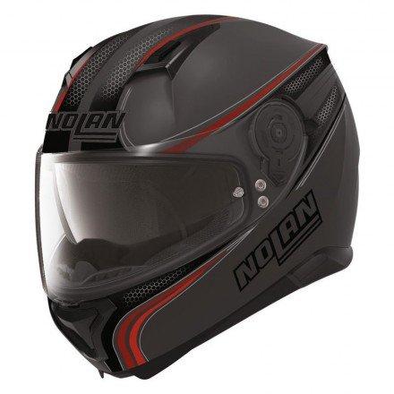 Nolan N87 Rapid Integralhelm Motorrad Polycarbonat n-com - matt schwarz Größe L