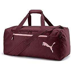 Puma Fundamentals Sports Bag M Bolsa Deporte, Adultos Unisex, Vineyard Wine, OSFA