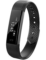 Smart Fitness Activity Tracker, 11TT YG3 Sport Armband Wristband Schrittzähler Touchscreen mit Step Tracker / Kalorienzähler / Sleep Monitor Tracker / Call Benachrichtigung Push für iPhone iOS und Android Phone