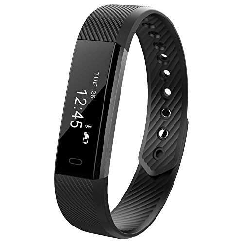 Smart Fitness Activity Tracker, 11TT YG3 Sport Bracelet Wristband Pedometer Touch Screen Smart Band with Step Tracker/Calorie Counter/Sleep Monitor Tracker/Call Notification Push for iPhone iOS and Android Phone (Black)