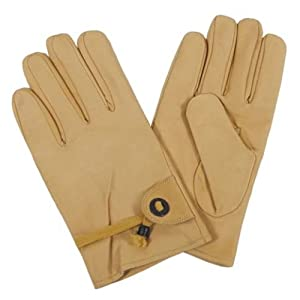 MFH Western-Fingerhandschuhe, beige, Leder, Bandzug, gefütt.