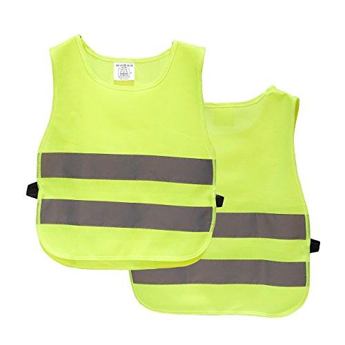 Kinder Reflektorweste - 2er Pack hohe Sichtbarkeit Westen, reflektierende Westen für Outdoor-Aktivitäten oder Bauarbeiterkostüm (Blue Halloween-spiel Baby)