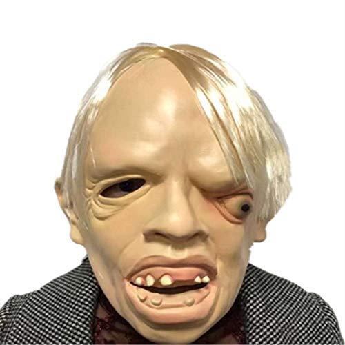 Denise Lamb Halloween Horror Einäugige Drachen Maske, Alien Scarlet Eyes COS Zombie Maske Halloween Party, Adult Scarlet Ort