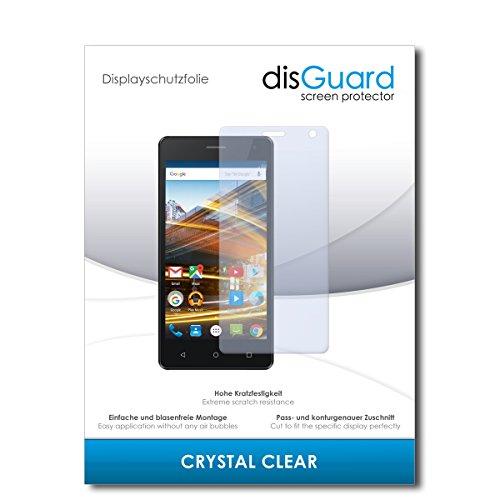 disGuard® Bildschirmschutzfolie [Crystal Clear] kompatibel mit Archos 50d Neon [3 Stück] Kristallklar, Transparent, Unsichtbar, Extrem Kratzfest, Anti-Fingerabdruck - Panzerglas Folie, Schutzfolie