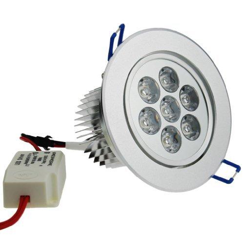 3er Auralum® 7W 630LM 2800K~3000K Warmweiß LED Einbauleuchte Einbau Spot Set Decken Leuchte Strahler Lampe Licht Set