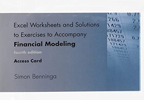 Financial Modeling Access Code: Excel Worksheets and Solutions to Exercises (Excel Worksheets and Solutions to Exercises to Accompany Financial Modeling, fourth edition, Access (Access Solutions)