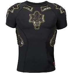 G-Form Pro-X Niños Compression Camiseta de Manga Corta - Negro/Armarillo, S