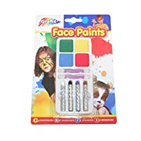 Islander Fashions Children Novelty Fancy Face Paint Kit Kids Halloween Party Supplies Accessory One Size