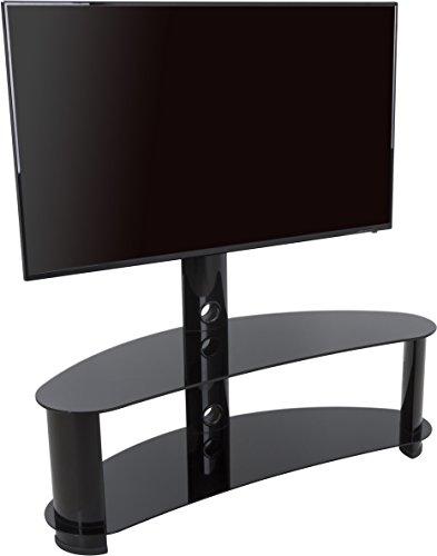 AVF 36100gebogen Freitragende TV-Ständer für bis zu 55TVs-Schwarz Avf-tv