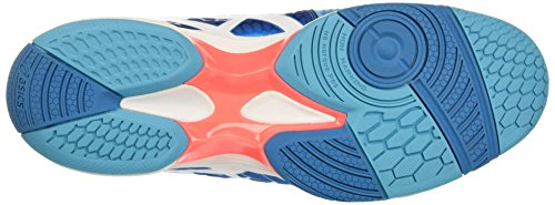 Asics Unisex-Erwachsene Gel-Blast 7 Gymnastik Blu (Blue Jewel/White/Flash Coral)