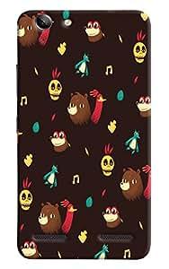 Omnam Animal Pattern In Brown Base Printed Designer Back Cover Case For Lenovo Vibe K5 Plus